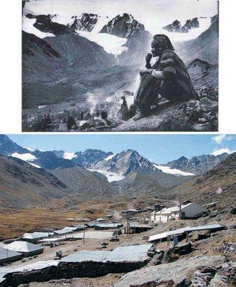 Mêmes glaciers, époques différentes. (de 1950 à nos jours). Crédit : National Geographic Channel.