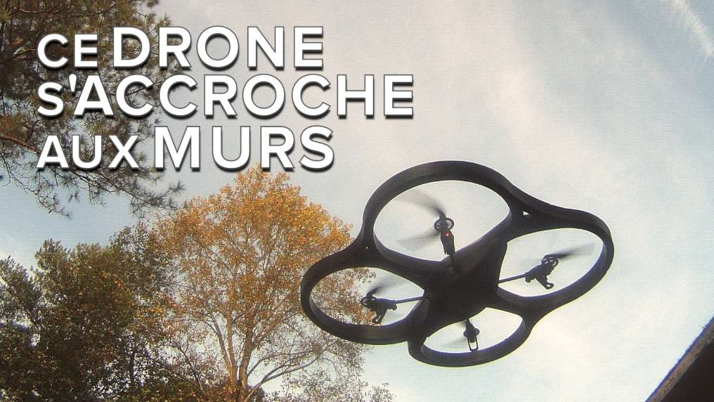 Ce drone incroyable s'accroche aux murs et au plafond