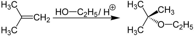 Synthèse d'ETBE à partir de butène et d'éthanol. © Jurgen Martens, Wikimédia CC by-sa 3.0