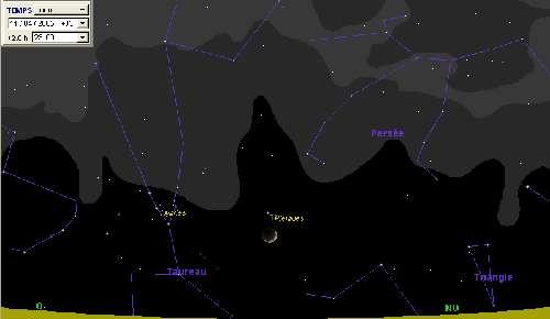 La Lune passe à proximité des Pléiades