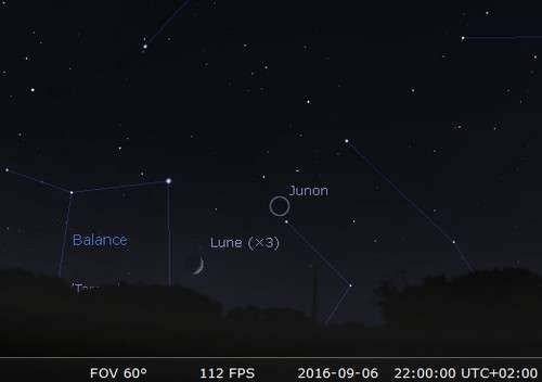 La Lune en rapprochement avec Junon. © Futura-Sciences