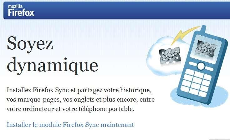 Intégrée dans le navigateur, la fonction Sync permet de retrouver son environnement de navigation (signets, historique, mots de passe, etc.) sur n'importe quel ordinateur, tablette ou smartphone. © Mozilla