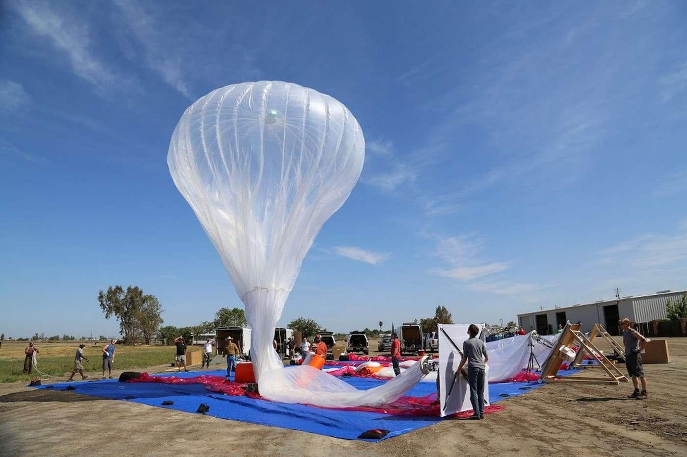 Le projet Loon de distribution d'accès Internet via des ballons stratosphériques a débuté en 2013. © Google