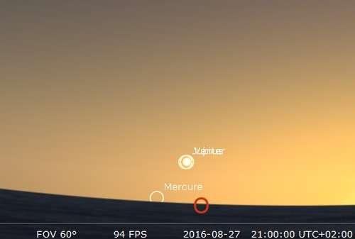 Les planètes Vénus et Jupiter sont en rapprochement