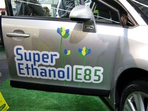 Véhicule roulant au bio-éthanol.