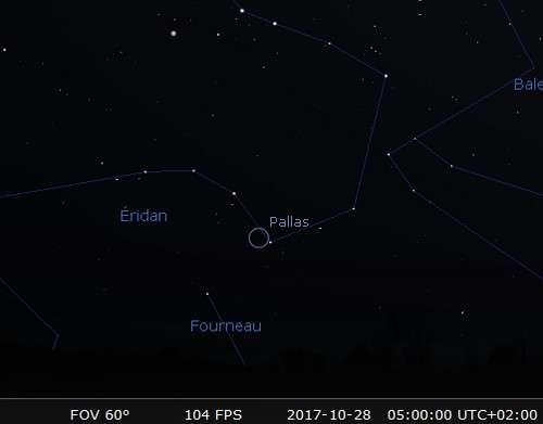 L'astéroïde Pallas est en opposition