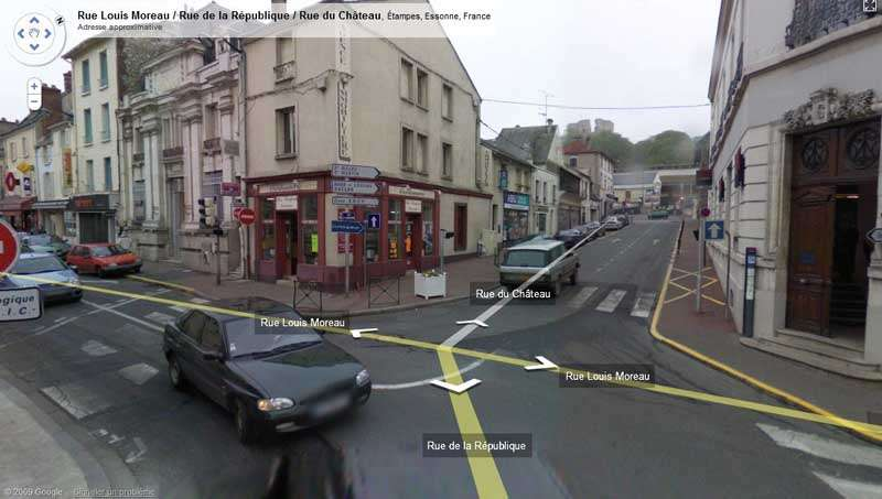 Image Google Street View prise à Etampes (France). Crédit Google