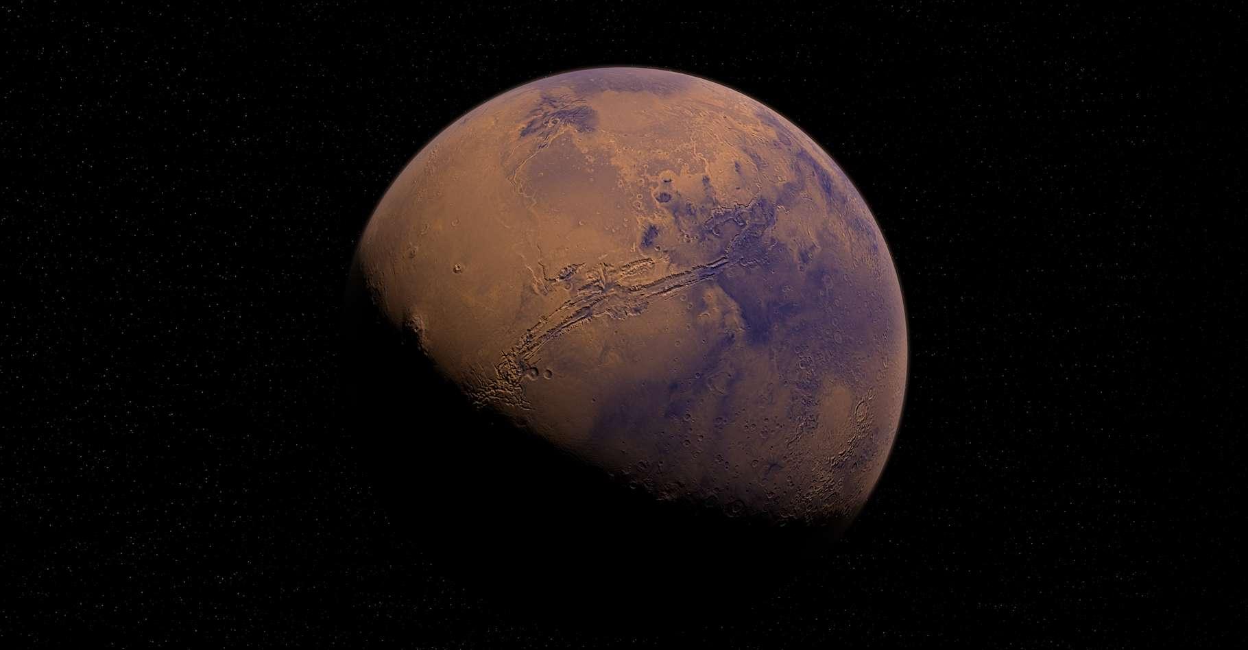 Une vue de Mars, notre voisine. © Nasa