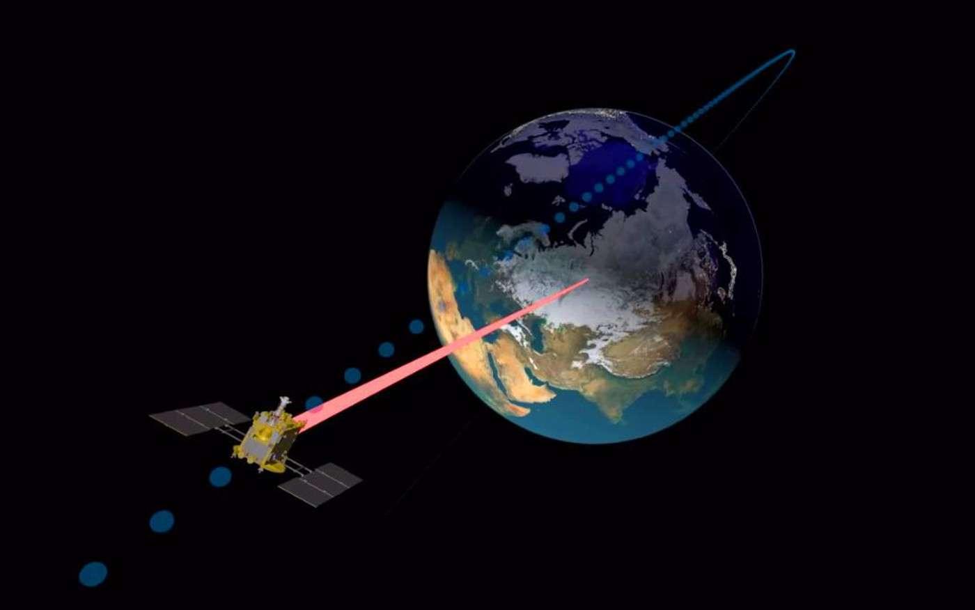 La sonde Hayabusa-2 s'est rapprochée de la Terre et l'a survolée pour mieux prendre de l'élan et poursuivre son voyage vers l'astéroïde Ryugu. © Jaxa