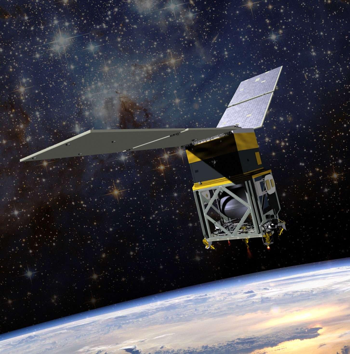 Le satellite GPIM est la première tentative des États-Unis pour tester la technologie de propulsion verte pour l'avenir de l'exploration spatiale. © Nasa