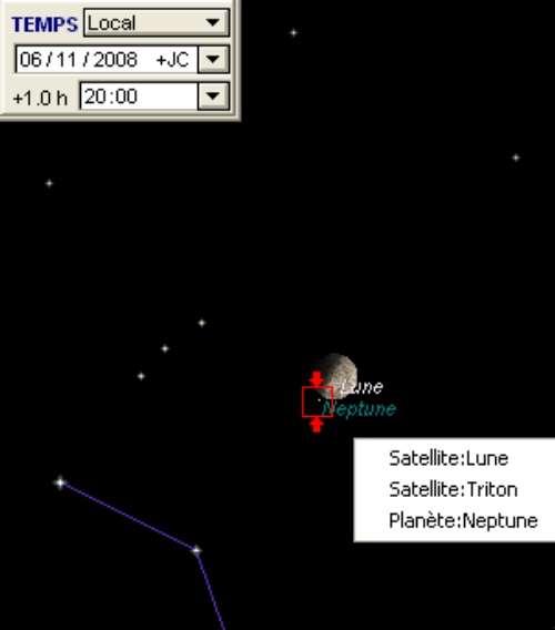 La Lune frôle la planète Neptune