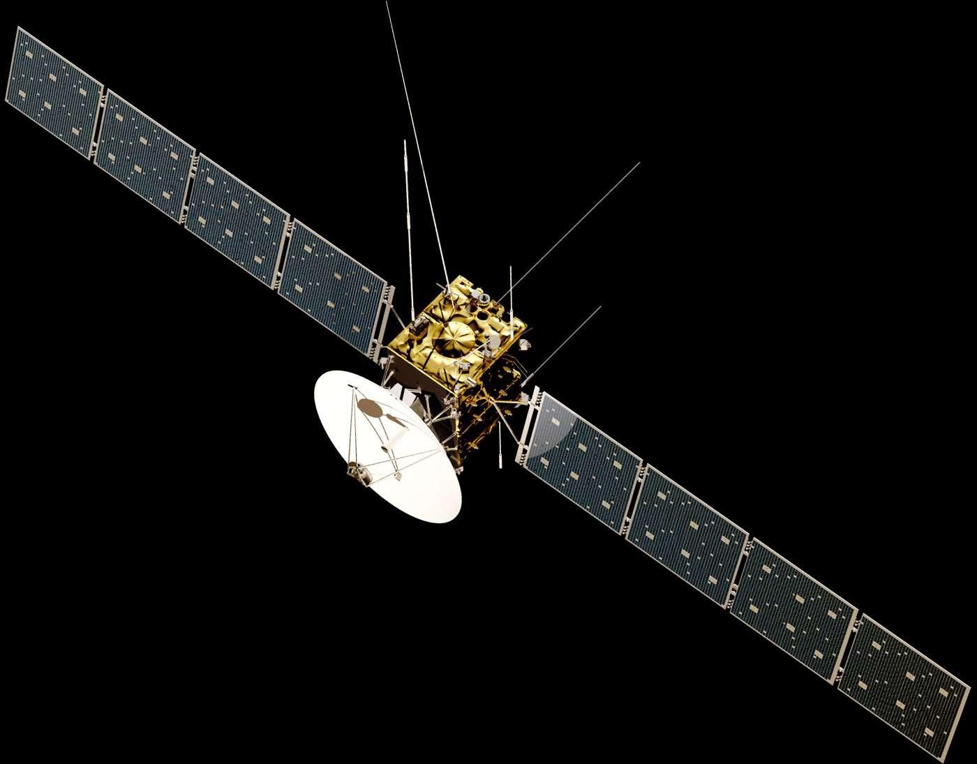 Prévue au lancement en 2022, Juice sera la première sonde de l'Agence spatiale européenne à s'aventurer dans le système jovien pour étudier Jupiter et trois de ses lunes. © Esa, ATG Medialab