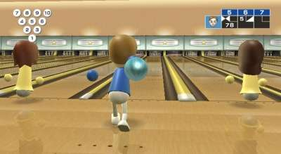 Capture d'écran de Wii Sports bowling