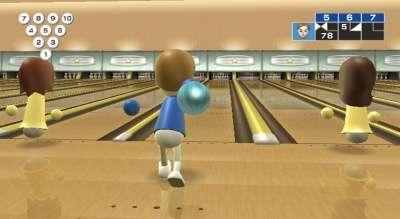 Capture d'écran de Wii Sports bowling