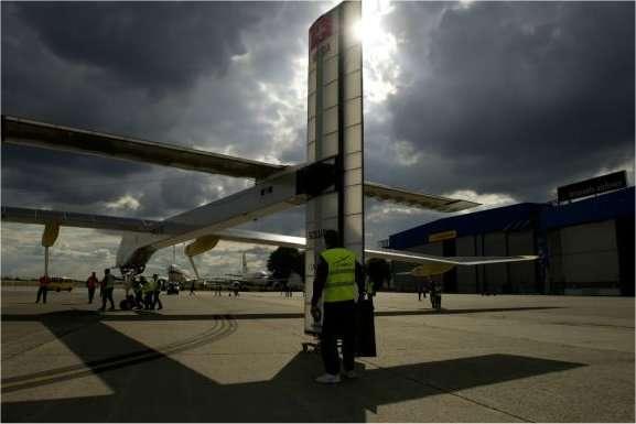 L'avion solaire HB-SIA à Zaventem, sur l'aéroport de Bruxelles. © Solar Impulse