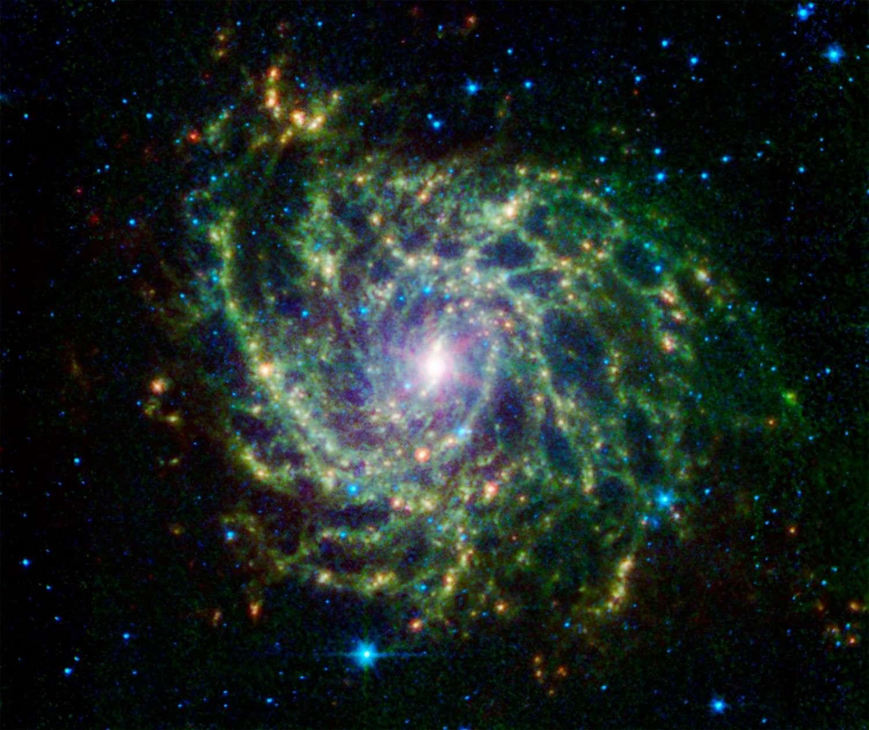 La galaxie IC 342 photographiée en infrarouge par le télescope Spitzer. © Nasa/JPL/Caltech
