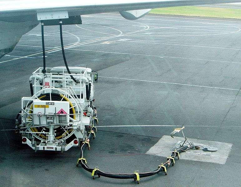 Le Jet A1 correspond au kérosène le plus employé dans l'aviation, notamment car il ne gèle qu'en dessous de -47 °C. © David Monniaux, Wikimedia Commons, cc by sa 3.0