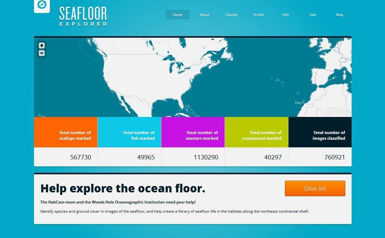 Seafloor Explorer est un projet Zooniverse. Environ 700.000 personnes sont déjà inscrites sur ce site de science citoyenne. Les amateurs préférant rester sur terre, plutôt que de partir explorer les océans, peuvent aussi essayer de déchiffrer des émissions sonores de chauves-souris. © Seafloor Explorer, Zooniverse.org