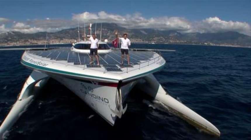 Le navire solaire PlanetSolar a pris la mer