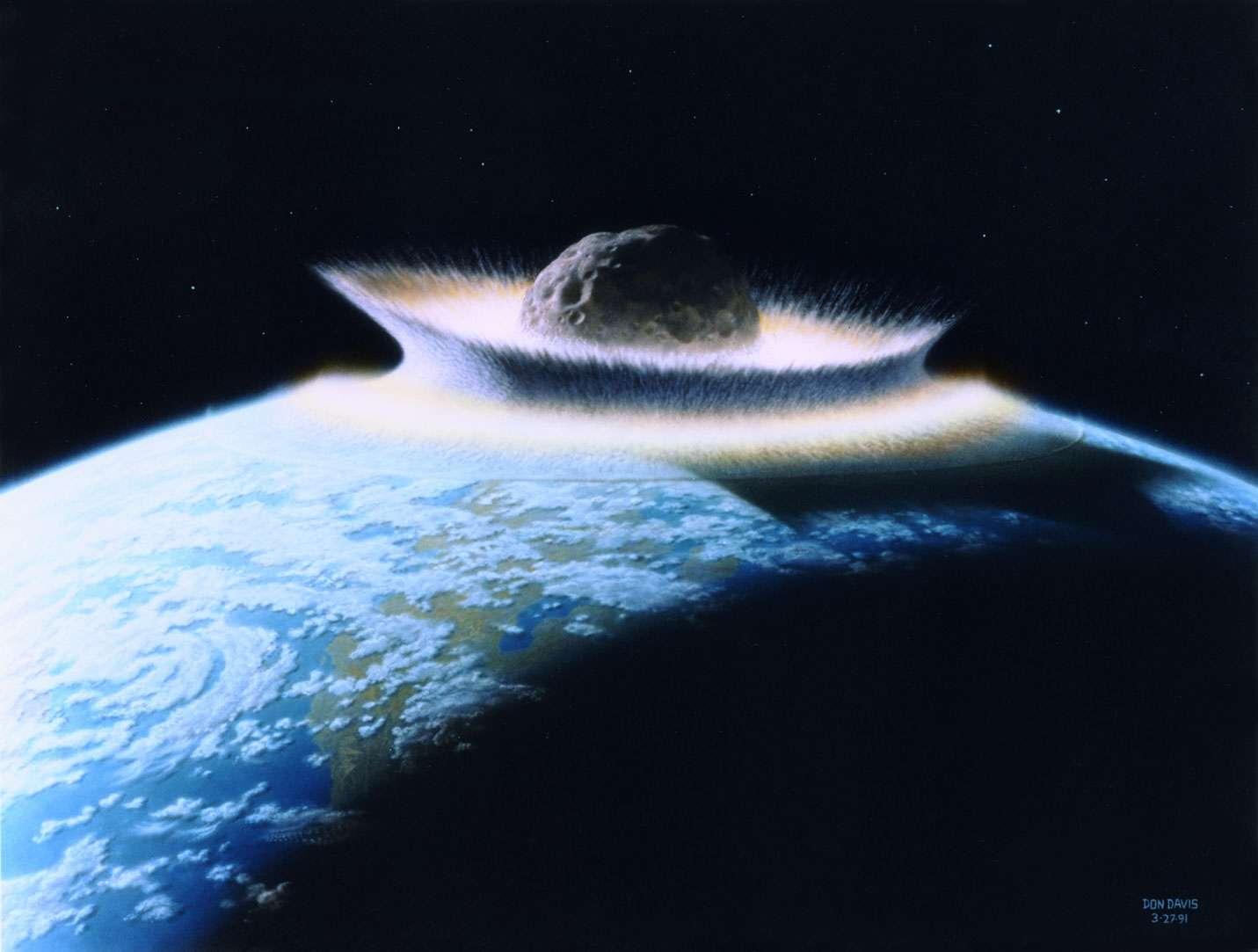 Un astéroïde a-t-il rendez-vous avec la Terre en décembre 2012 ? © Don Davis/Nasa