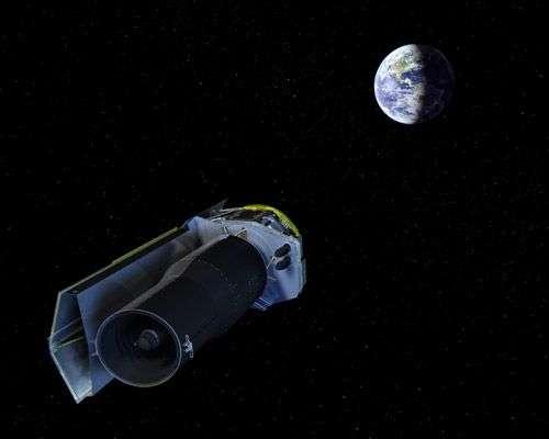 Le télescope spatial Spitzer. Crédit : Nasa/JPL