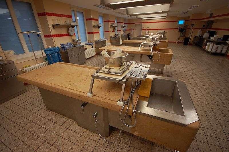 L'autopsie des cadavres se pratique dans une salle d'autopsie. © Ralf Roletschek, Wikimedia, GFDL 1.2