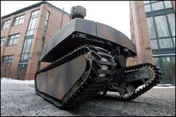 Un robot équipé du procédé Infotaxis. Crédit : Physorg.