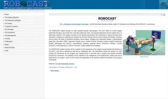 Dans le cadre du projet Robocast, il a été mis au point un robot permettant d'améliorer la performance des neurochirurgiens. © http://www.robocast.eu/ - Tous droits réservés