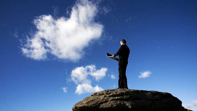 Le cloud computing utilise la métaphore des nuages pour symboliser la dématérialisation de l'informatique. © George Thomas, Flickr, CC by-sa 2.0
