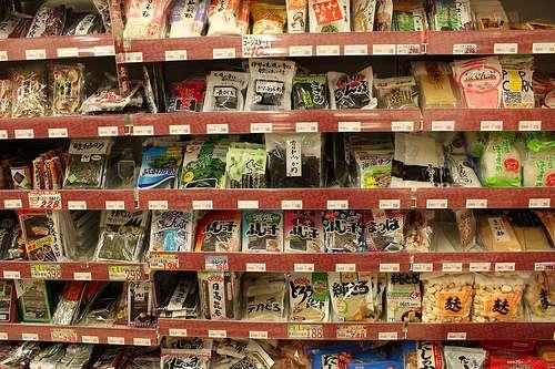 Exemple de EDI : la traçabilité des produits d'un supermarché. © Kyotoiteschroniques, Flickr CC nc by-sa 2.0