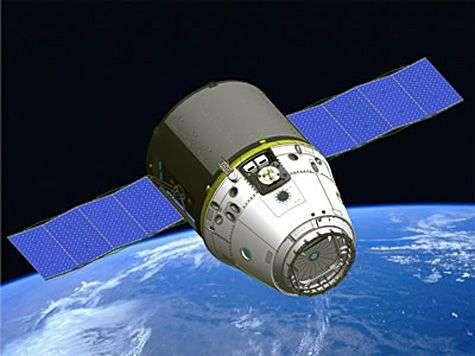 La capsule Dragon en orbite (vue d'artiste). Crédit SpaceX