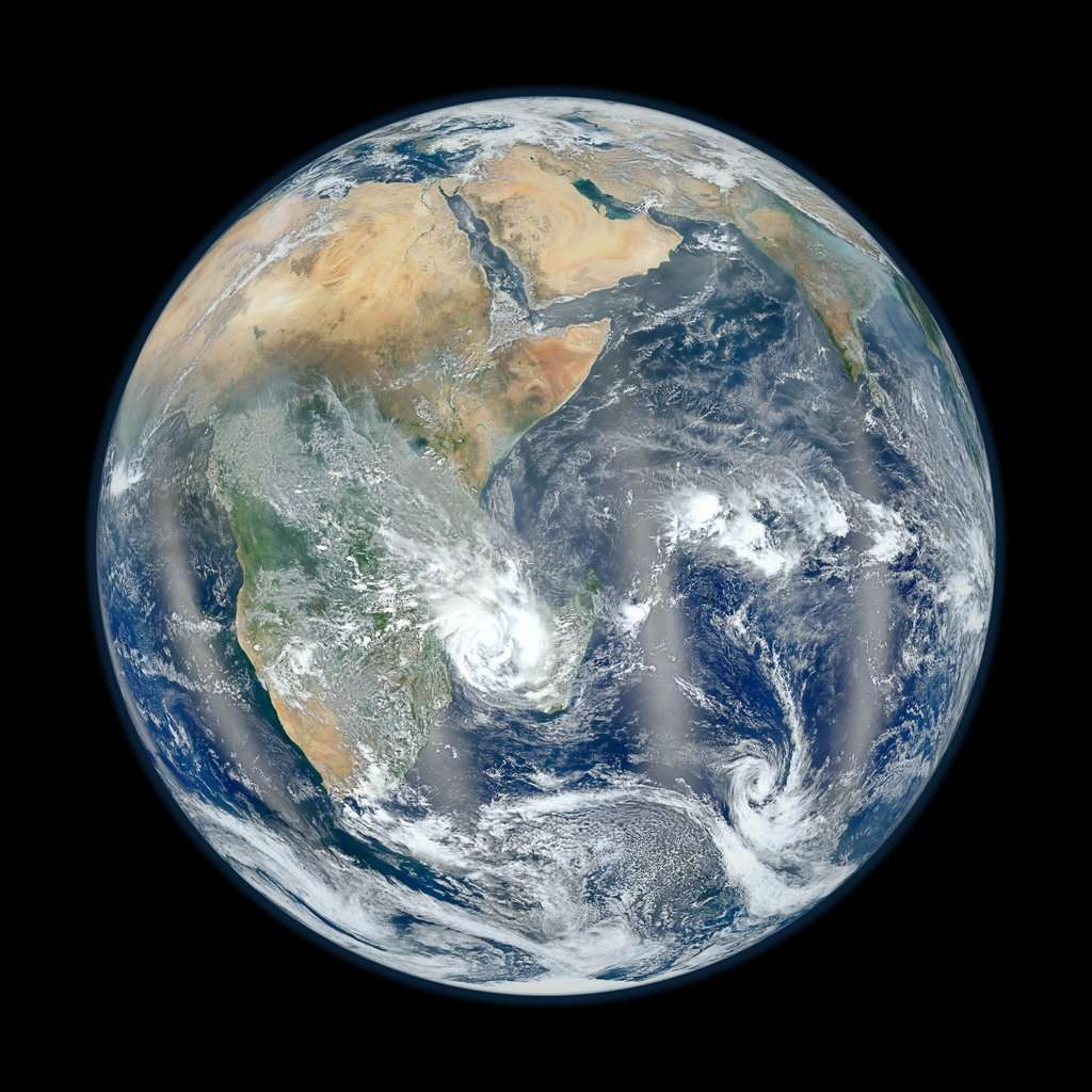 La Terre côté Afrique vue par le satellite météorologique Suomi NPP. © Nasa/Noaa