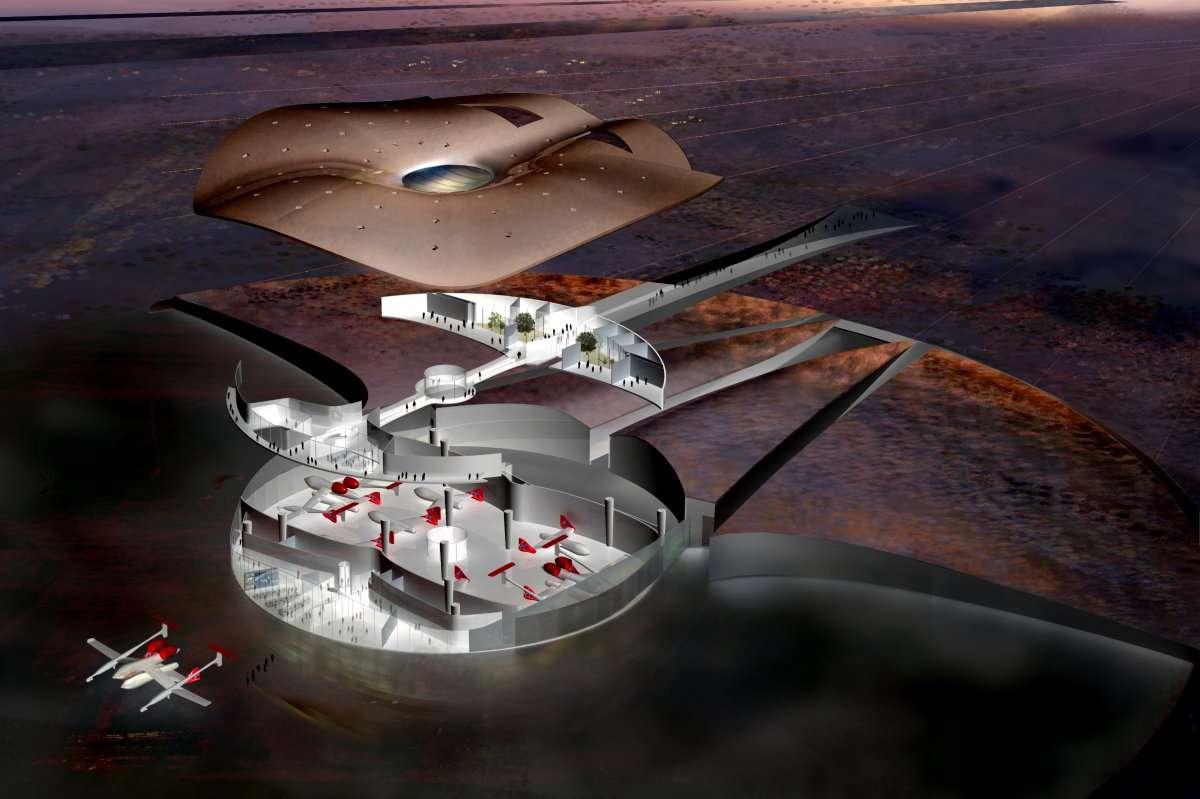 Le futur aéroport de l'espace (suborbital pour commencer). © Spaceport America