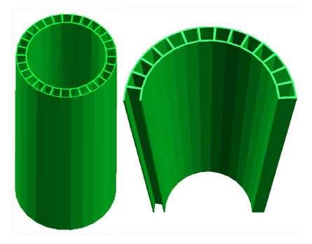 La structure avec pores des tubes de carbone géants. Crédit : Peng et al.