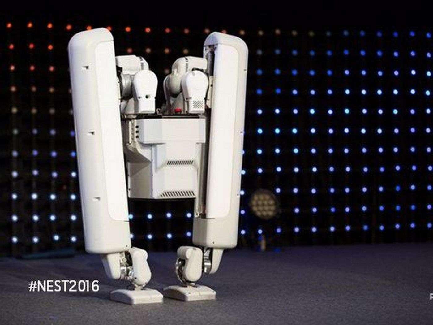 Le robot développé par la société japonaise Schaft qui appartient à Alphabet (Google) fait preuve d'un sens de l'équilibre impressionant. © I-Programmer
