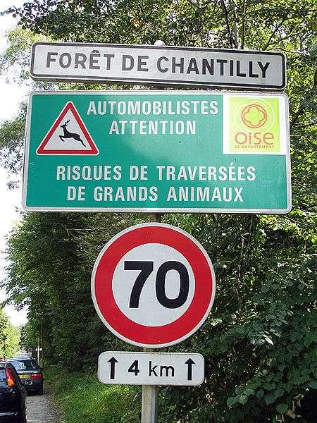 Un exemple de réduction du roadkill basée sur la prévention et la réduction de la vitesse autorisée sur une portion de route identifiée comme un lieu de passage de la grande faune. © Clicsouris, Wikimedia CC by-sa 3.0