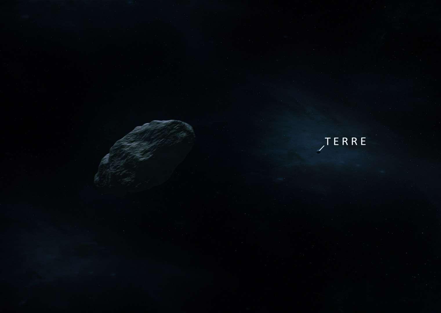 La Russie pourrait envoyer une sonde voler en formation avec l'astéroïde Apophis ou se mettre en orbite autour de lui. L'objectif serait d'étudier son histoire, sa nature, sa composition et déterminer avec exactitude les paramètres de son trajectoire. © Astrium