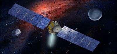 La mission Dawn d'exploration de deux astéroïdes