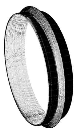 La reconstitution numérique du bracelet proposé par Mohamed Ben Tkaya (LTDS). © Obsidian Use Project Archives