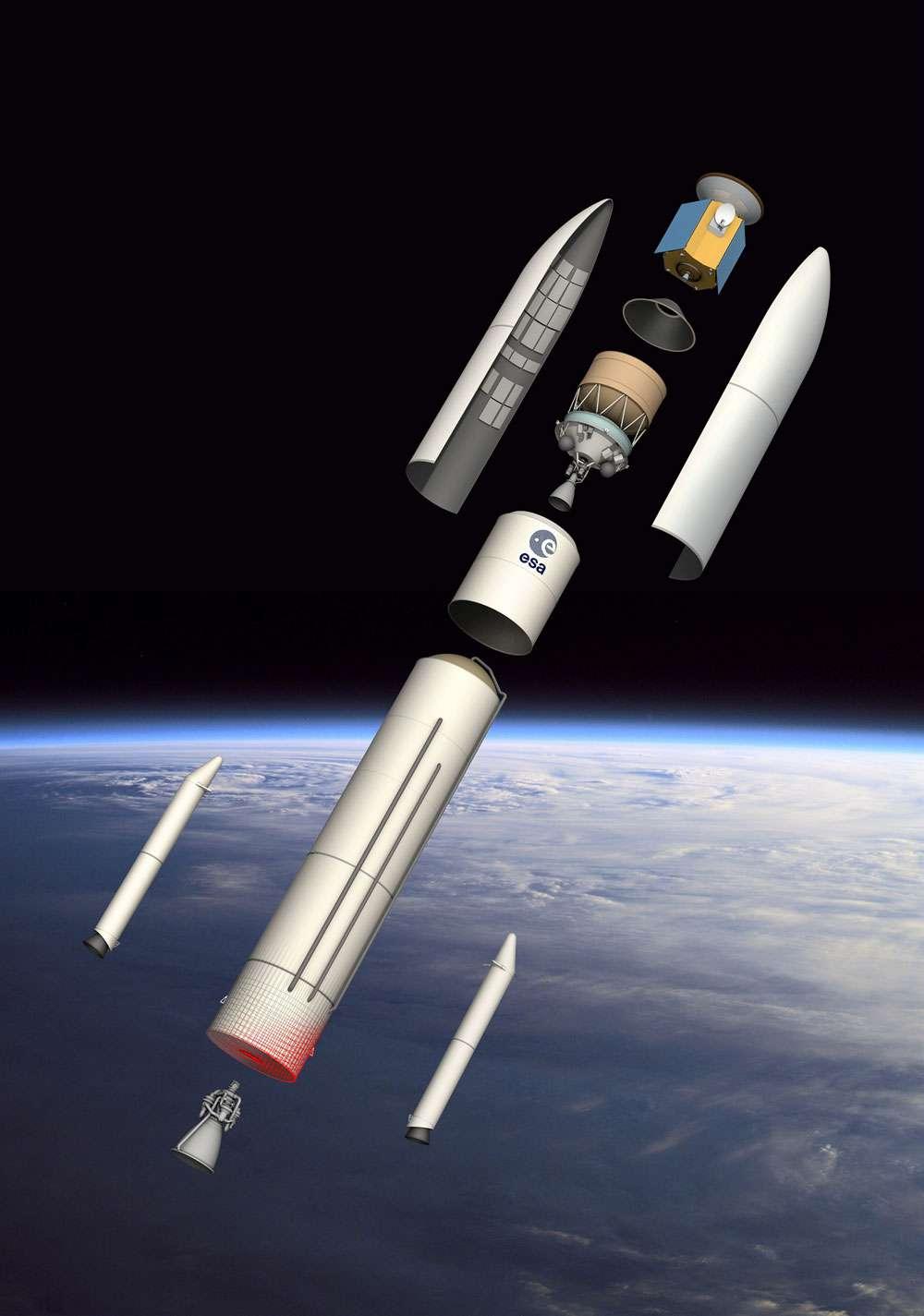 Quelle que soit la configuration de la future Ariane 6, ce lanceur devra être économique pour s'aligner autant que faire se peut sur la stratégie commerciale de SpaceX. Une stratégie toute simple mais redoutable sur un marché fortement concurrentiel qui consiste à s'appuyer sur les contrats élevés du gouvernement des États-Unis (Nasa, US Air Force) pour proposer des lanceurs à des prix anormalement bas, comprendre qui ne reflètent pas les coûts réels du lanceur. © Esa, D. Ducros