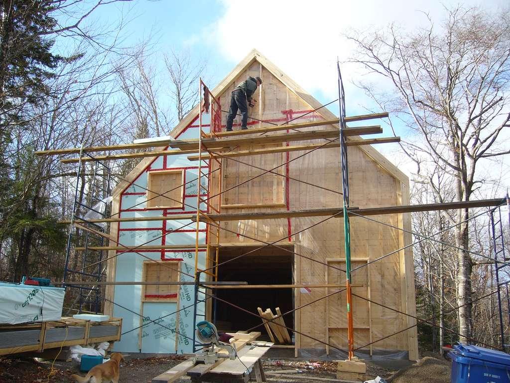 La maison à ossature bois est écologique, résistante et design. En outre, elle nécessite moins de temps de construction qu'une ossature béton. © Arbre évolution, Flickr, cc by sa 2.0