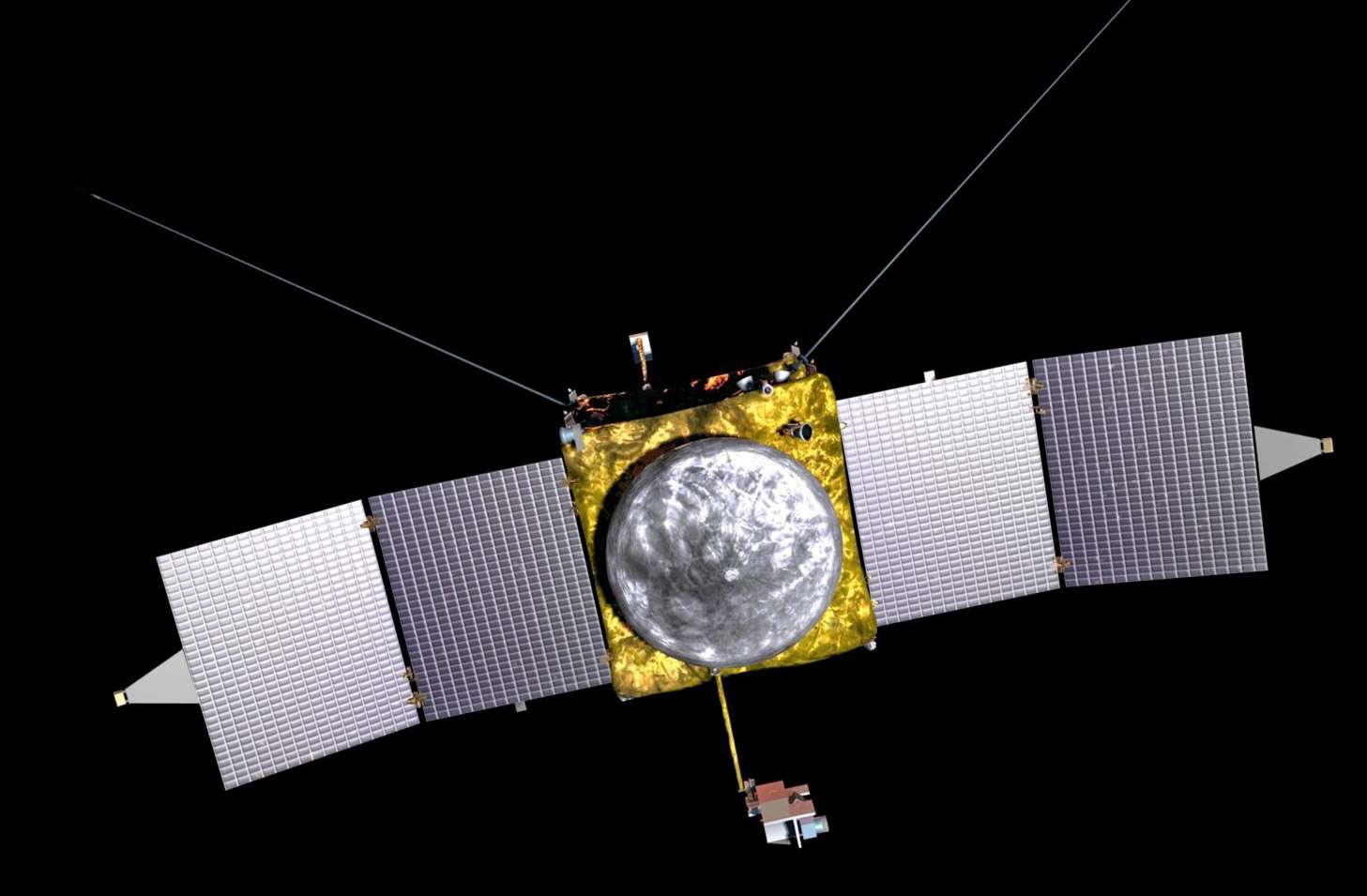 La sonde Maven (Mars Atmosphere and Volatile Evolution) sera construite autour de la même plateforme utilisée pour les orbiters Mars Odyssey et Mars Reconnaissance Orbiter, également construits par Lockheed Martin. © Nasa