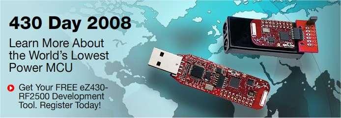 Deux versions (modèles du commerce) du microcontrôleur MSP 430 © TI