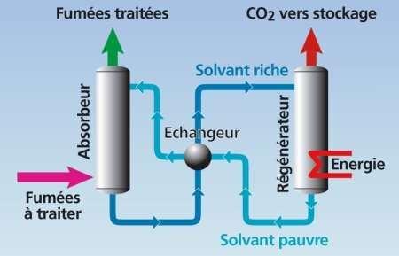 Le circuit du CO2 au sein de Castor
