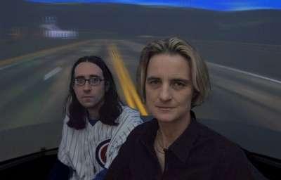 Daphne Bavelier (à droite) et Shawn Green découvrent les bons côtés des jeux vidéos. Crédit : University of Rochester
