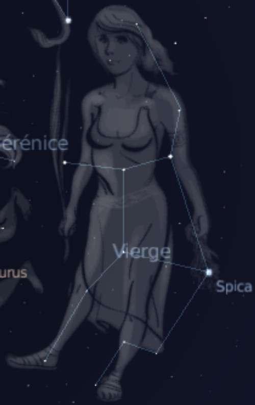 Spica dans la constellation de la Vierge