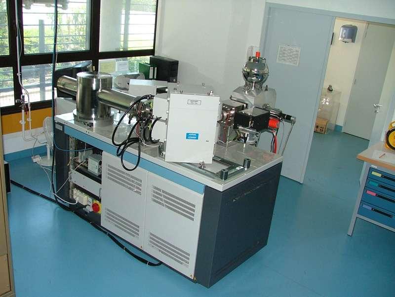 Spectromètre de masse dans un laboratoire de géochimie (Crédit : UMR 6635 - CNRS / CEREGE Nîmes).