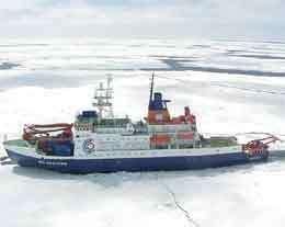 Le navire PolarsternCrédit : http://www.awi-bremerhaven.de