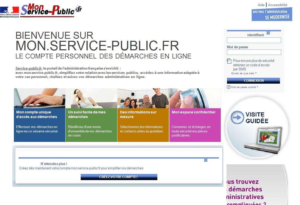 Le site Mon.service-public.fr, premier endroit où se rendre pour une démarche administrative... © DR