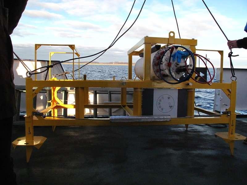 L'observatoire sous-marin était situé à 22 mètres de profondeur et 1,8 km des côtes. © Forschungstauchzentrum CAU